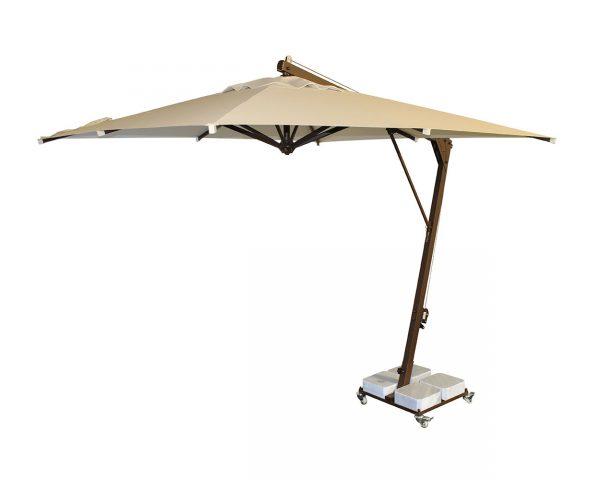 Yandan Direkli Kare Şemsiye