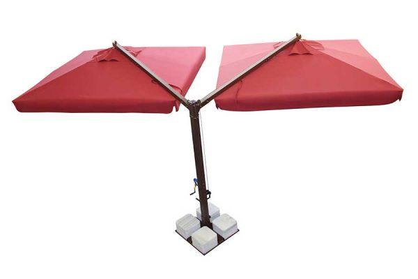 Banana Model Öne Çift Açılır Bahçe Şemsiyesi